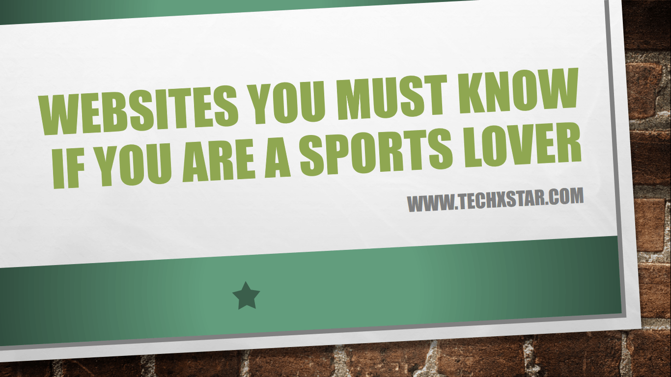 Websites you must know if you are a sports lover